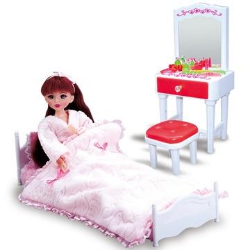 芭比娃娃衣柜床梳妆台