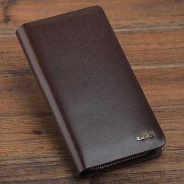 谜题男士钱包男长款拉链钱包男士手包钱夹手机包欧美