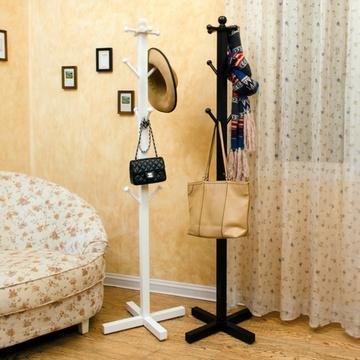 唯妮美 欧式衣帽架落地田园挂衣架简易室内卧室衣架衣服架(白色)