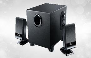 漫步者 2.1声道多媒体音箱R101V (黑色)